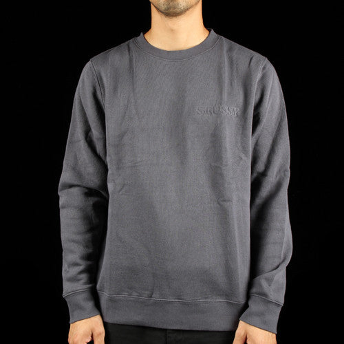 Embossed Applique Crewneck Sweatshirt