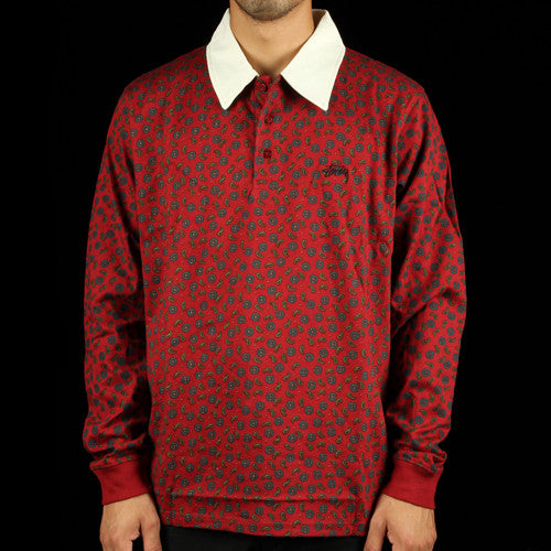 Zip Paisley Rugby Shirt