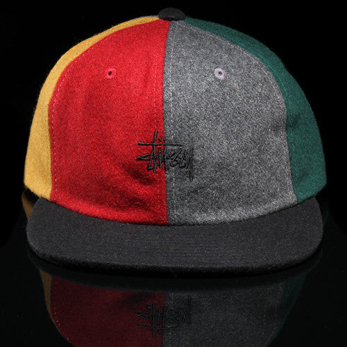 Multicolor Melton Strapback Hat