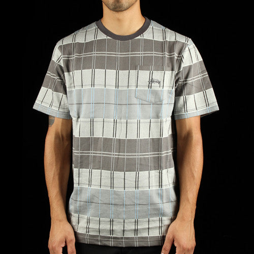 Plaid Short Sleeve Crew T-Shirt