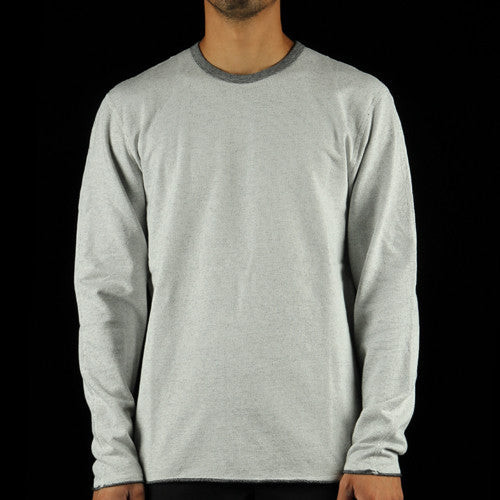 Diagonal Terry Crewneck Sweatshirt
