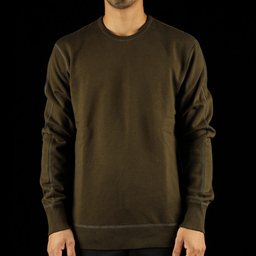 Midweight Terry Side Zip Crewneck Sweatshirt