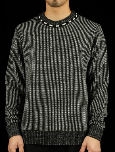 Vertical Stripe Crewneck Sweater