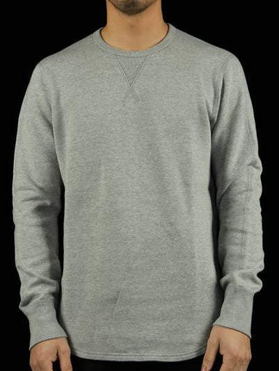Mesh Double Knit Crewneck Sweatshirt