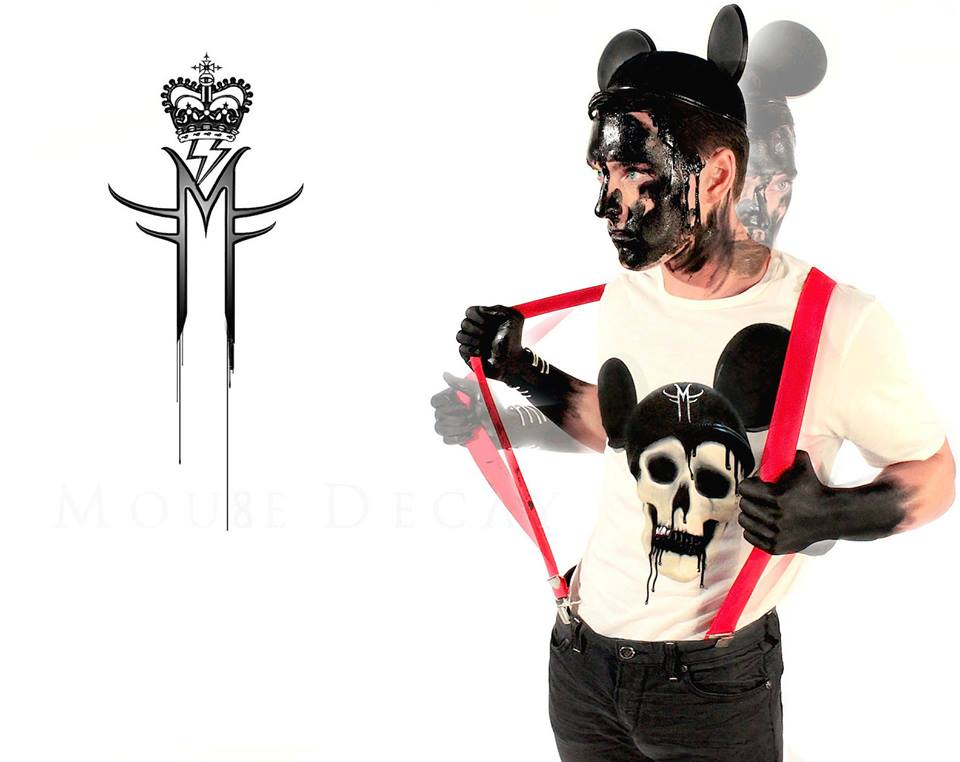 ARTCYNIC ECOLUXE COLLECTION ECO FRIENDLY CLOTHING HIGH STREET FASHION COUTURE MILA FARGO 2012 / MOUSE DECAY ORIGINAL MICKEY SKULL EMINEM BLACK BLOOD OIL
