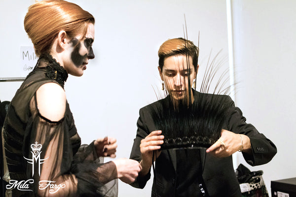 Mila Fargo BACKSTAGE BTS BEHIND THE SCENES Chloe Dykstra / EXOS COUTURE SHOW 2015 /16