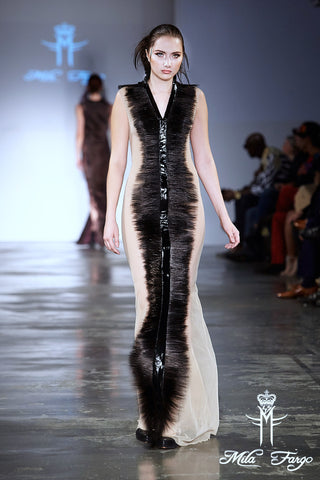 Mila Fargo Shadow of Death Gown runway look 3 / EXOS COUTURE SHOW 2015 /16
