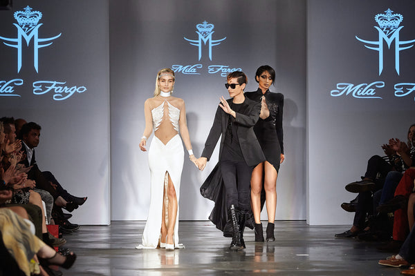 Mila Fargo Designer creative director president runway END CLOSE / EXOS COUTURE SHOW 2015 /16