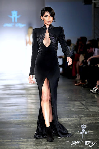 Mila Fargo Angel Of Death Gown runway look 4 / EXOS COUTURE SHOW 2015 /16