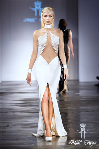 Mila Fargo Angel Of Resurrection Gown runway look 5 / EXOS COUTURE SHOW 2015 /16