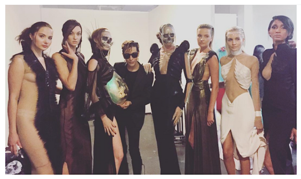 Mila Fargo BACKSTAGE BTS BEHIND THE SCENES MF group / EXOS COUTURE SHOW 2015 /16