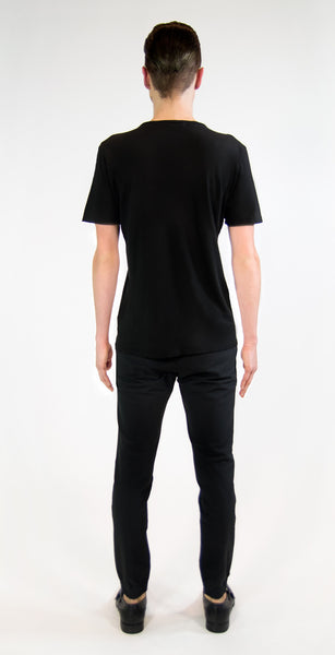 MF SPLIT RIBCAGE T-SHIRT | Black Liquid - MF