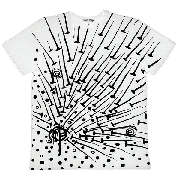 NAILS T-SHIRT | White Limited Edition Mila Fargo T shirt