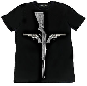 GUN CROSS T-SHIRT | Black - MILA FARGO | MF