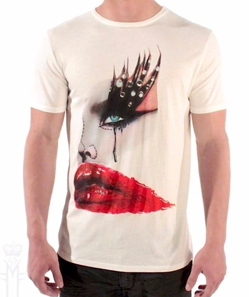 RED LIPS T-SHIRT | White ( Limited Edition ) Mila Fargo T shirt