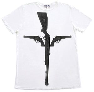 GUN CROSS T-SHIRT |  White - MILA FARGO | MF