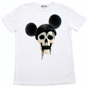 MOUSE DECAY MICKEY SKULL T-SHIRT | White - MILA FARGO | MF