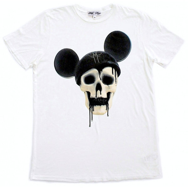 MICKEY SKULL T-SHIRT | White - MF