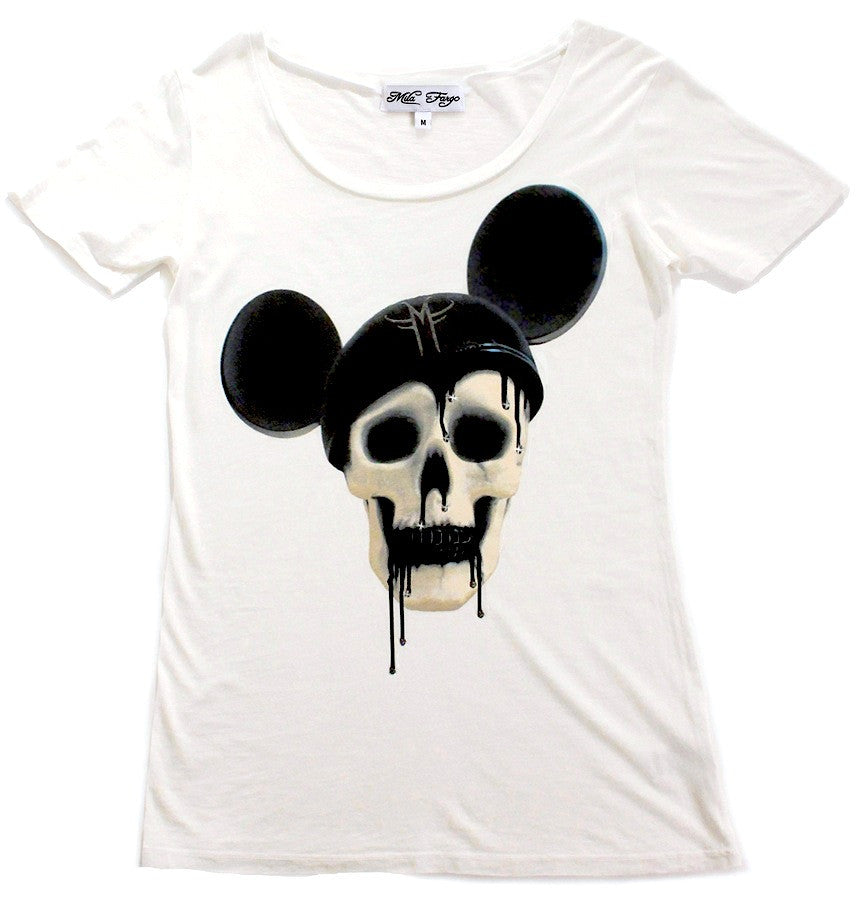 MOUSE DECAY MICKEY SKULL T-SHIRT ( Limited Edition ) Mila Fargo T shirt