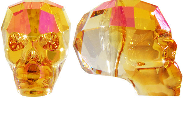 CRYSTAL SKULL EARRINGS | Astral Pink Fire - MILA FARGO | MF