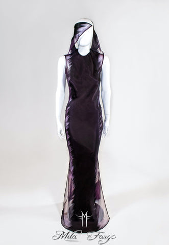 SHADOW IKAT GOWN | Violet Orchid - MF