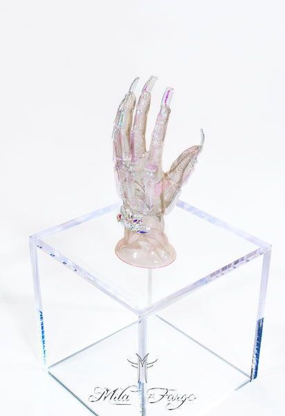 CRYSTAL SKELETON GLOVES | Aurora Prism Mila Fargo T shirt