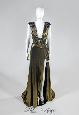 GOLD PHOENIX GOWN | Dark Gold - MF