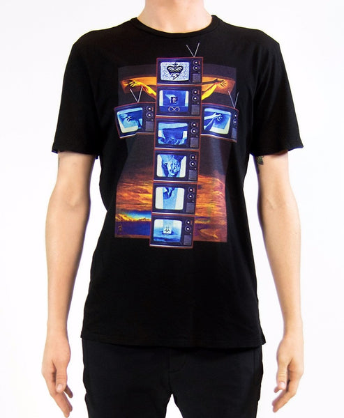 MODERN CRUCIFIXION TECHNICOLOR TV T-SHIRT | Black ( LE ) - MF