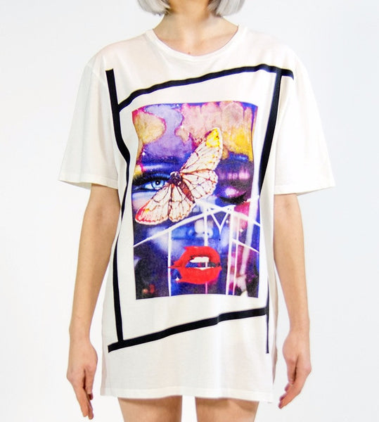 RESURRECTION OF MARILYN MONROE T-SHIRT | White ( LE ) Mila Fargo T shirt