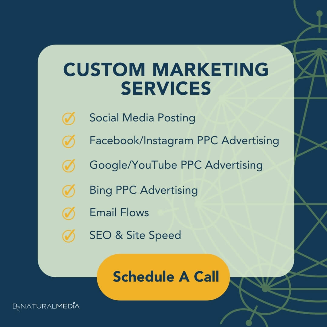Benatural Media Custom Marketing Services - Schedule a Discovery call