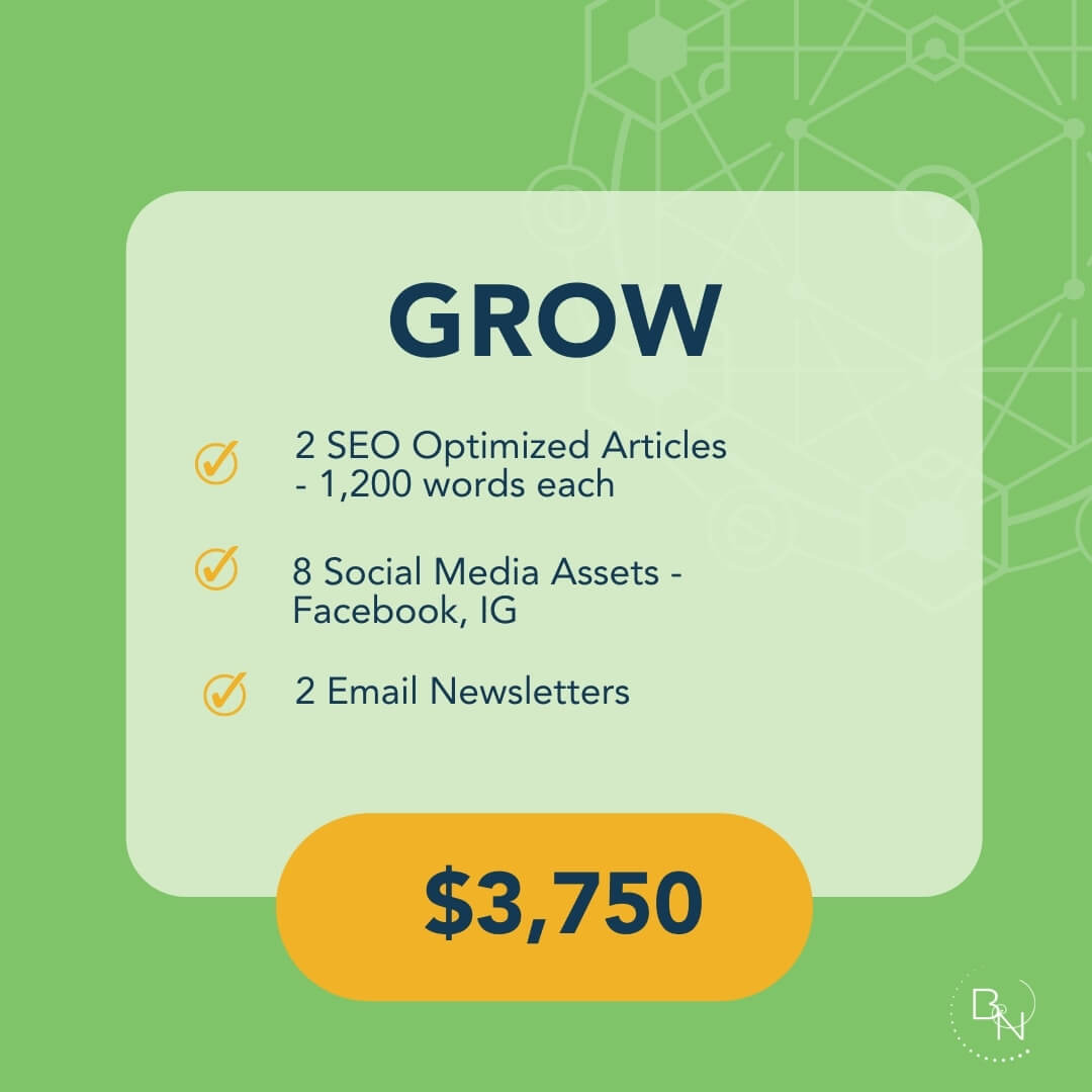 Subscribe to our Grow Service