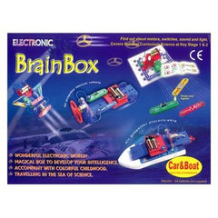 Brain Box, Challenge, 50 Experiments. incl. Car & Boat (10/Outer) +