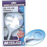 Magnifier, 100mm, 2x 3x 4x hand held,   Acrylic (36/Outer)+