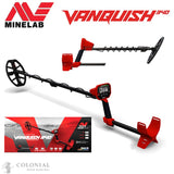 "Detector, Metal, Vanquish 540 Pro, Minelab with 8"" and 12"" coils +"
