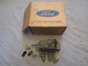 1969 Ford Galaxie hood latch with attaching parts C9AZ-16700-A - Andrew's Automotive Archaeology