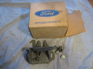 1969 Ford Galaxie hood latch with attaching parts C9AZ-16700-A #2 - Andrew's Automotive Archaeology