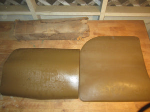 1965 Ford Galaxie Falcon Fairlane Mustang rear floor mat kit SADDLE C5AZ-6213106 - Andrew's Automotive Archaeology