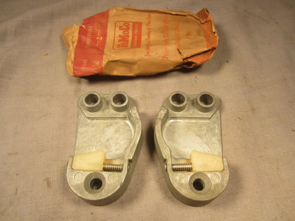 1959 Ford door latch striker plate LH RH pair B9A-6422008-A B9A-6422009-A - Andrew's Automotive Archaeology
