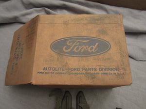 1969 Ford Galaxie hood latch with attaching parts C9AZ-16700-B1 - Andrew's Automotive Archaeology