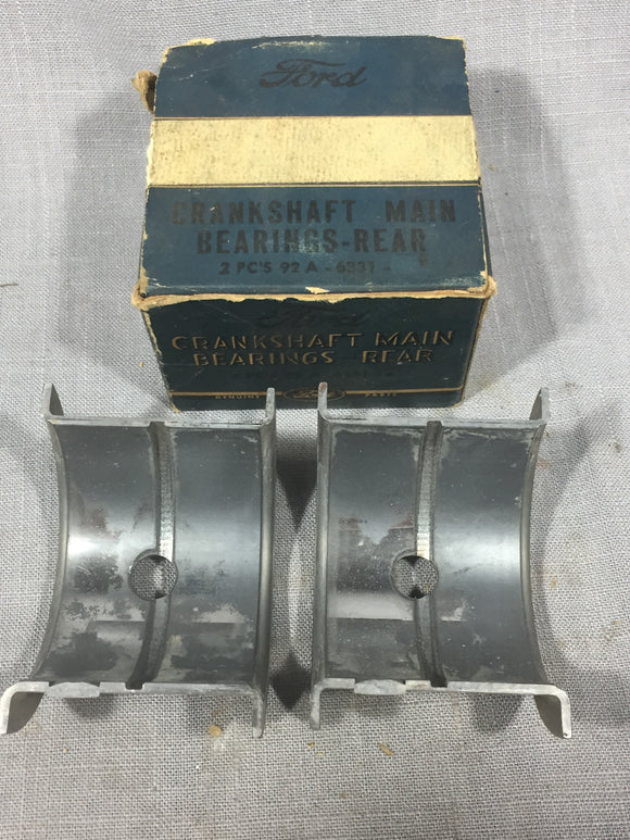 1940 Ford 60 HP flathead rear main bearing .005 92A-6331-B NOS - Andrew's Automotive Archaeology