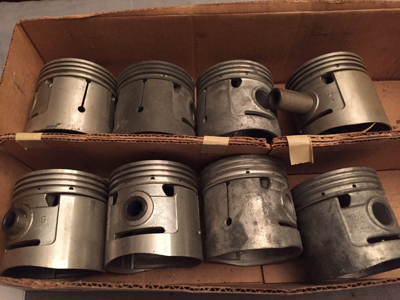 1932-1936 Ford flathead pistons set 40-6108-C .020 NORS - Andrew's Automotive Archaeology