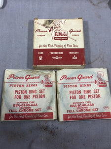 1958-1960 Ford 332 352 FE piston ring set 2 cylinders B8A-6148-AAA STD NOS - Andrew's Automotive Archaeology