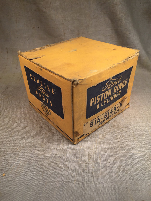 1932-1942 Ford 90 HP flathead expander piston rings .020 81A-6149-H NOS - Andrew's Automotive Archaeology