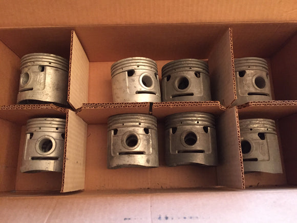1932-1936 Ford 90 hp flathead V8 pistons 40-6110-E .030 - Andrew's Automotive Archaeology