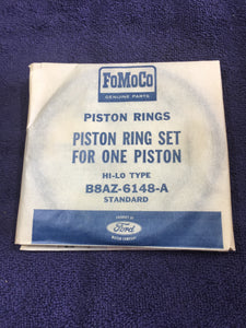 1958-1959 Ford Lincoln 332 y-block V8 piston rings STD hi-lo B8AZ-6149-A - Andrew's Automotive Archaeology