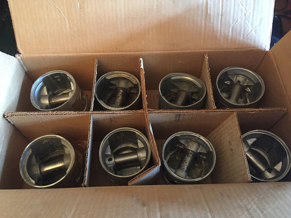 1932-1936 Ford 90 HP flathead V8 piston set 40-6108 0.040 over - Andrew's Automotive Archaeology