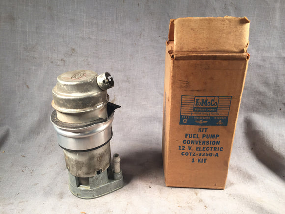 1960 Ford truck electric fuel pump conversion C0TZ-9350-A #1 - Andrew's Automotive Archaeology