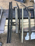 1930s Ford car window felt moulding weatherstrip guide lot of 29 pieces - Andrew's Automotive Archaeology
