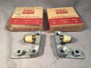 1956-1957 Ford full size door latch striker pair no insert B6AZ-7022008/9 NOS - Andrew's Automotive Archaeology
