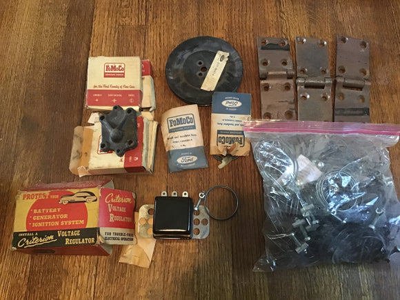 NOS Ford parts vintage 1930s 1940s 1950s lot of 40+ pieces